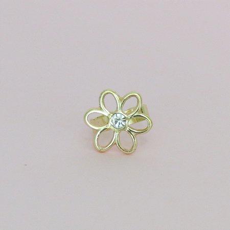 Anel falange flor