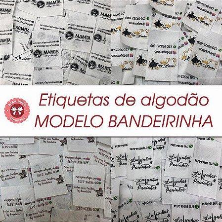 Etiqueta de Algodão Modelo Bandeirinha