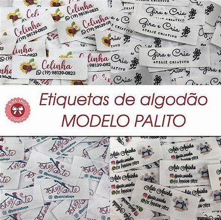 Etiqueta de Algodão Modelo PALITO