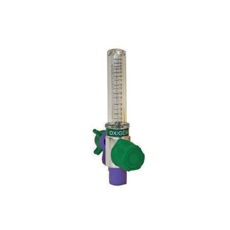 Fluxômetro 0 A 15 l/min Bilha Curta Diss Para Oxigênio