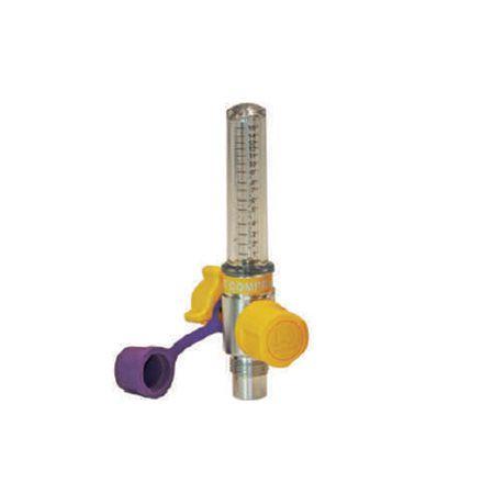 Fluxômetro 0 A 15 l/min Bilha Curta Diss Para Ar Comprimido