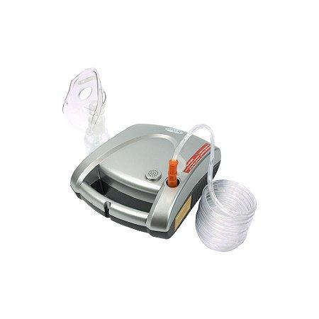 Inalador e nebulizador NEBCOM V - G-Tech - Prata e Branco