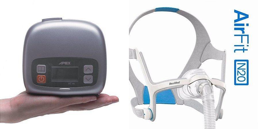 Kit completo para Apneia com CPAP Apex e Máscara Nasal N20
