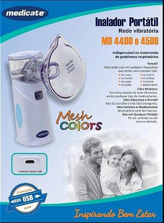 Inalador Nebulizador Portátil Mesh Colors MD 4500