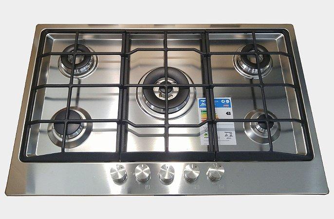 Cooktop em Inox Semi Filo Franke Neptune 80 GTC 80cm 220V