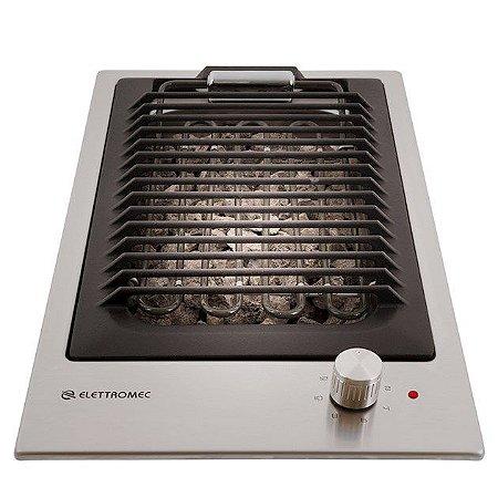 Cooktop Barbecue Quadratto Elettromec 30cm 220V