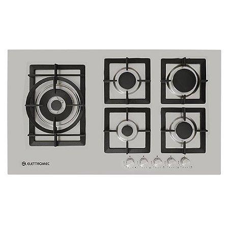 Cooktop à Gás Elettromec Quadratto 90 cm Semifilo Bivolt