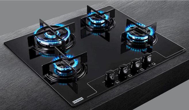 Cooktop à Gás  Franke Glass 4 Queimadores 60 GTC Tripla Chama