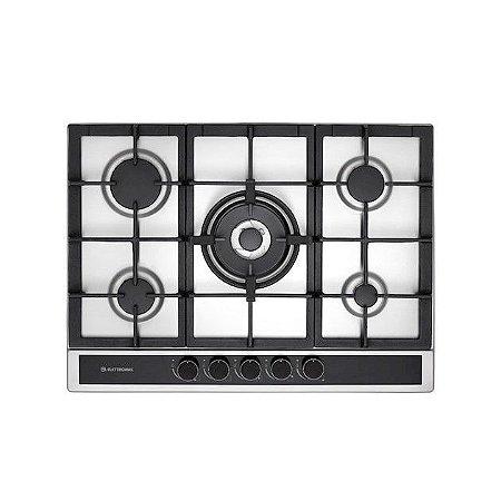 Cooktop Em Inox à Gás Elettromec Sole 5 Bocas 70cm Bivolt