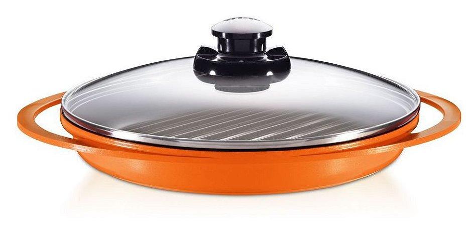 Grill Smart Pot  Roichen com Revestimento Cerâmico e Tampa de Vidro - 26CM