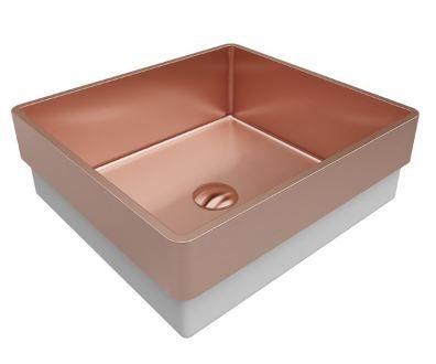 Lavabo Debacco Primaccore Acabamento Rose Gold ou Black Matte 40x37x13cm