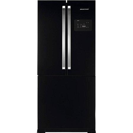 Geladeira Brastemp Side Inverse BRO80 540 Litros Ice Maker Preta