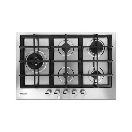 Cooktop Inox Crissair CCP 750 à Gás 5 Bocas Tripla-Chama Lateral - Made Italy