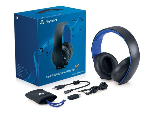 HEADSET SONY GOLD PS4