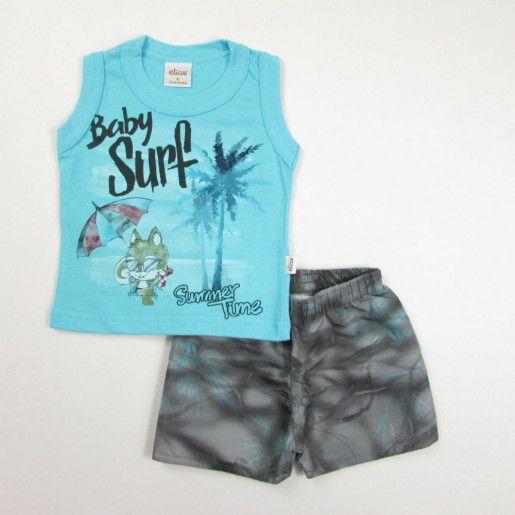 b9b53c0c1d Conjunto Regata Masculino Estampado Baby Surf - Elian - Baby   Kids