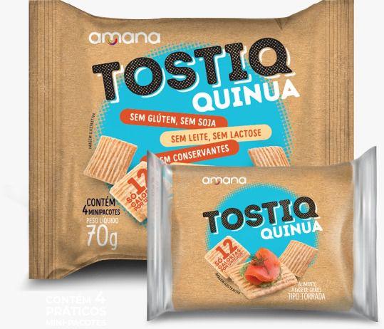 Torrada Tostiq Quinoa com 4 pacotes (70g)