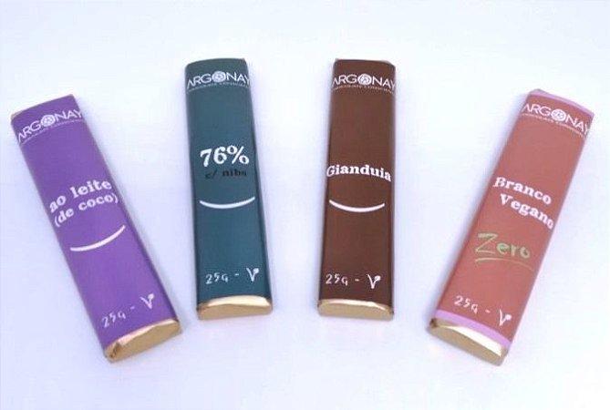 Chocolate Premium Vegano e Sem leite   Argonay Combo - 4 unidades