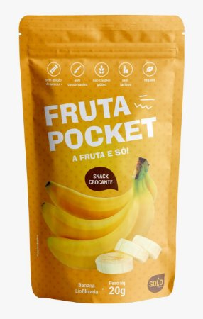 Snack de Banana liofilizada Fruta Pocket (20g)
