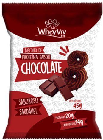 Biscoito Fit de Chocolate com Whey   Sem adição de açúcar (45g)