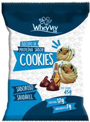 Biscoito Fit de Cookies com Whey   Sem adição de açúcar (45g)