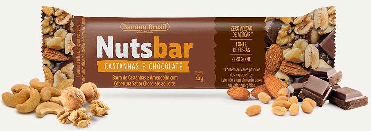 Nuts Bar Castanhas e Chocolate Zero Açúcar (25g)