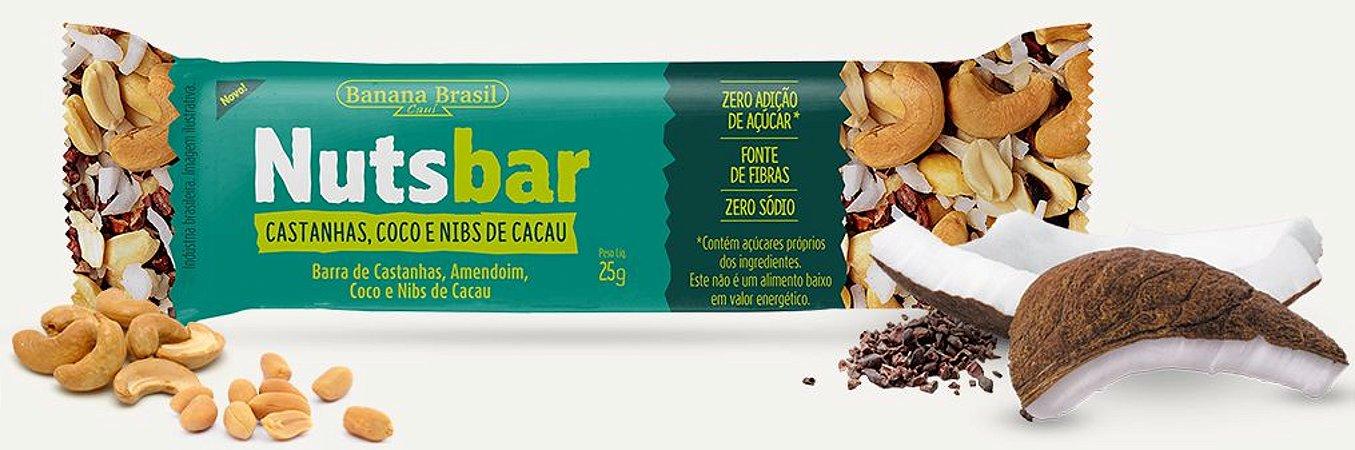 Nuts Bar Castanhas, Coco e Nibs de Cacau | Zero Açúcar (25g)