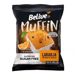 Muffin Laranja com gotas de Chocolate | Sem adição de açúcar (40g)