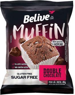 Muffin Double Chocolate Glúten Free | Sem adição de açúcar (40g)