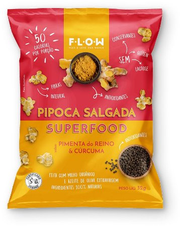 Pipoca salgada Superfood Pimenta do Reino e Cúrcuma (32g)