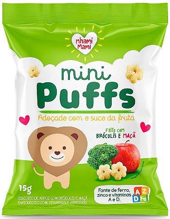 Mini Puffs Biscoito de Arroz com Brócolis e Maçã (15g)