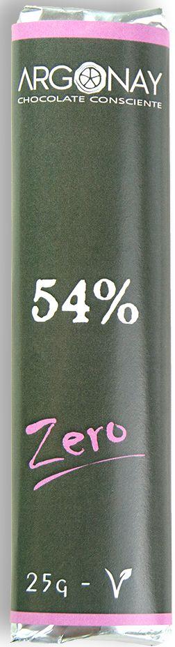 Tablete Chocolate 54% Cacau | Vegano e Sem adição de açúcar (25g)