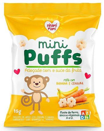 Mini Puffs Biscoito de Arroz com Banana e Cenoura (15g)