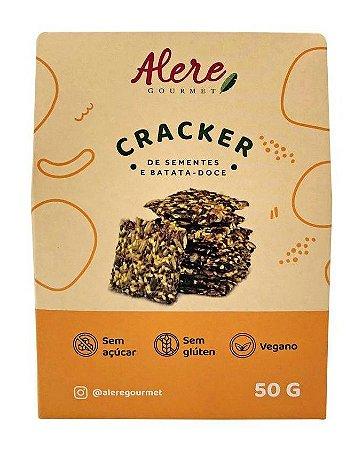 Biscoito Cracker de Sementes e Batata Doce (50g)