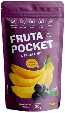 Snack de Banana e Açaí liofilizado Fruta Pocket (20g)