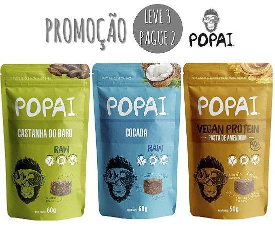 Snacks Popai - Promoção L3P2 - Castanha do Baru, Cocada e Pasta de Amendoim