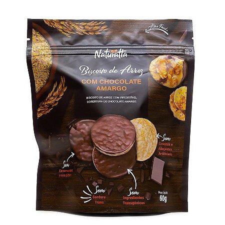 Biscoito de Arroz Integral coberto com Chocolate Amargo (60g)