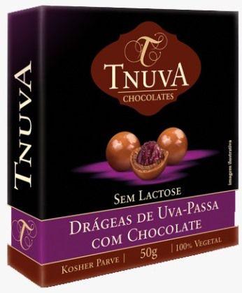 Drágeas de Uva Passa com Chocolate   sem leite (50g)
