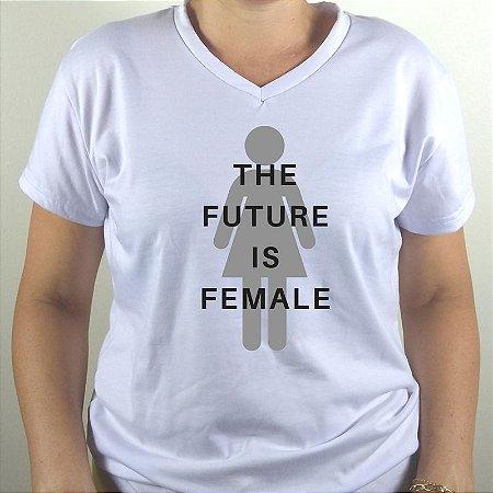 BABY LOOK DECOTE V COM ELASTANO FUTURE IS FEMALE