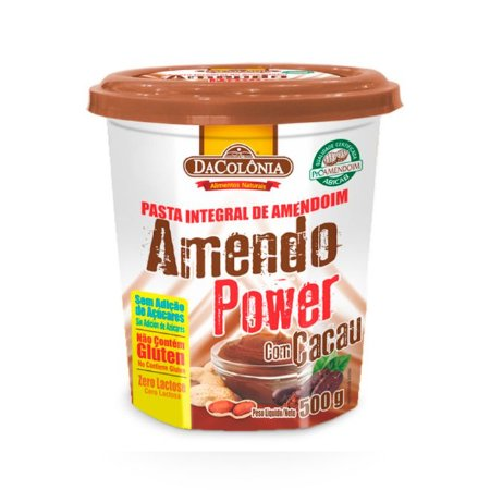AmendoPower com Cacau 500g DaColônia