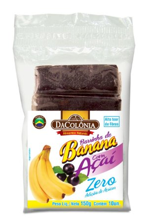 Barrinha de Banana com Açaí Zero 150g DaColônia