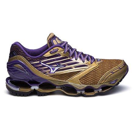 b16279ac83551 Mizuno Wave Prophecy 5 Golden Runners Dourado e Roxo | BlackTênis ...
