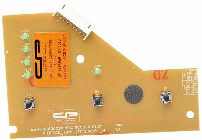Placa Interface Electrolux LTE12 Versão 1 CP1118 64800634