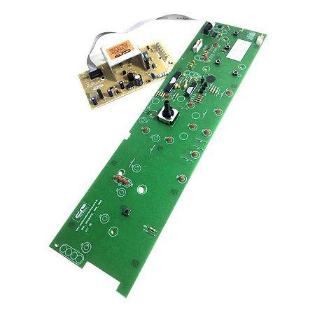 Placa Potência e Interface Lavadora Brastemp BWL09 Versão 1 CP1043 W10308925 Bivolt