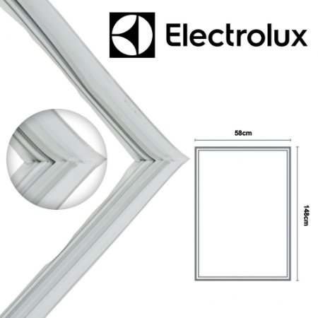 Gaxeta Borracha Porta Refrigerador Electrolux RFE38 RFE39 Canaleta Encaixe