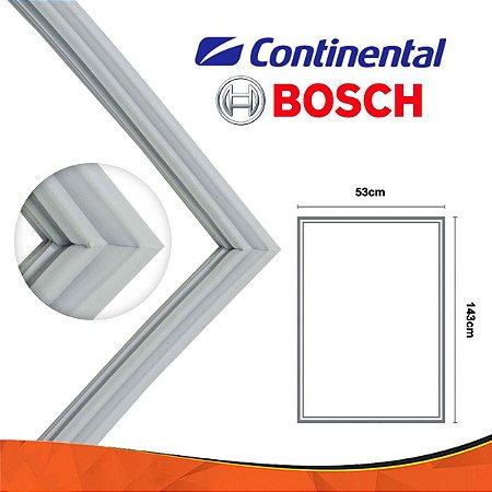 Gaxeta Borracha Porta Refrigerador Continental 143x53 Canaleta Encaixe