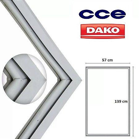 Gaxeta Borracha Porta Refrigerador CCE 139x57 Encaixe