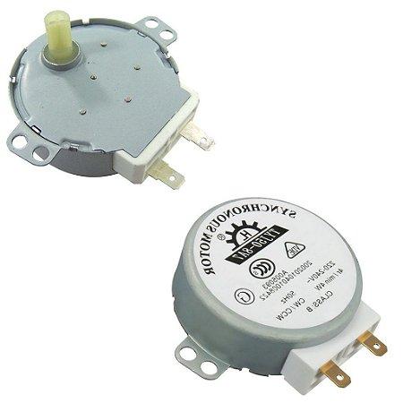 Motor para Prato de Microondas Universal 5/6 RPM Eixo Plástico
