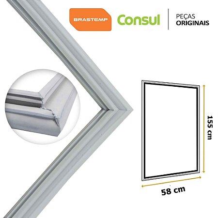 Gaxeta Borracha Porta Refrigerador Brastemp Consul 155x58 CRA36 CRP38 Canaleta