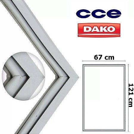 Gaxeta Borracha Porta Refrigerador CCE C43 121x67 Inferior