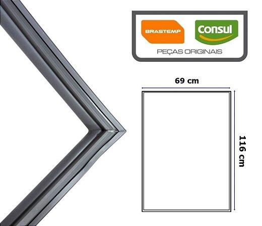 Gaxeta Borracha Porta Refrigerador Brastemp Inferior Brg39/41 116x69